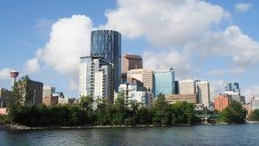 Calgary Skyline stock video footage