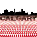 Calgary skyline dollar symbols Stock Photos