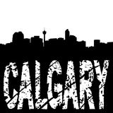 Calgary skyline grunge text Royalty Free Stock Photography