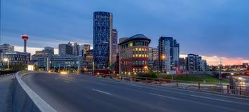 Calgary skyline at night Royalty Free Stock Photography