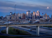 Calgary skyline at night Royalty Free Stock Image