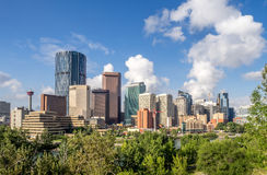 Calgary Skyline Royalty Free Stock Photography