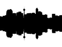 Calgary Skyline reflected Royalty Free Stock Images
