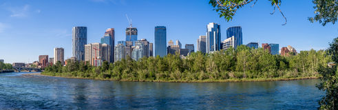 Calgary skyline in summer Stock Image