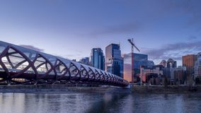 Calgary-Skyline timelapse stock video