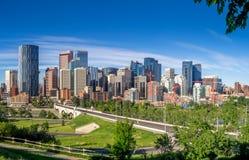 Calgary-Skylinepanorama Lizenzfreie Stockfotografie