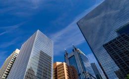 Calgary-Skylinepanorama Stockbild