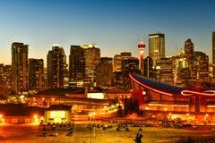 Calgary-Stadtskyline in Alberta, Kanada stockfoto
