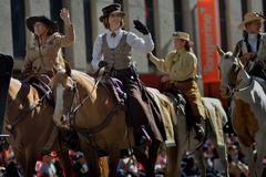 Calgary Stampede Parade - Greatest Outdoor Show on Earth , Calgary ,Alberta , Canada . Royalty Free Stock Photos