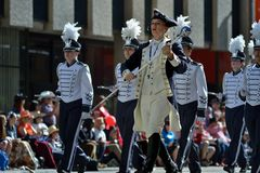 Calgary Stampede Parade - Greatest Outdoor Show on Earth , Calgary ,Alberta , Canada . Stock Photo