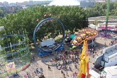 Calgary stampede. Ride on the Ferris wheel at Calgary stampede to get a fantastic view of everything that is happening Royalty Free Stock Photography