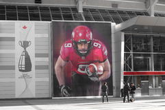 Calgary Stampeders player Stock Photography