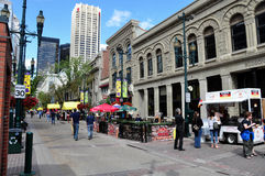 Calgary streetscape Stock Photography
