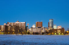 Calgary at sunrise, Alberta, Canada Stock Images