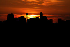 Calgary at sunset Royalty Free Stock Image