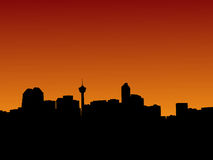 Calgary at sunset Royalty Free Stock Images