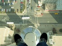 Calgary Tower. On the top of the calgary tower Stock Photos
