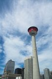Calgary Tower. Calgary tourist attraction with dramatic revolving restaurant for those city views stock photography