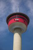 Calgary Tower. Calgary tourist attraction with dramatic revolving restaurant for those city views stock image