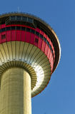 Calgary Tower. Top part of the Calgary tower on a sunny afternoon Stock Image