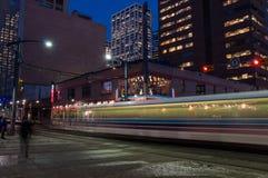 Calgary transportu pociąg Zdjęcia Stock