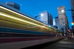 Calgary transportu pociąg Fotografia Royalty Free
