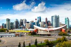Calgary van de binnenstad royalty-vrije stock foto's