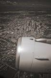 Calgary von der Luft lizenzfreie stockfotografie
