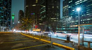 Calgary wierza z ruchem zdjęcia stock
