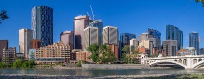 Calgary& x27; horizonte de s Foto de archivo