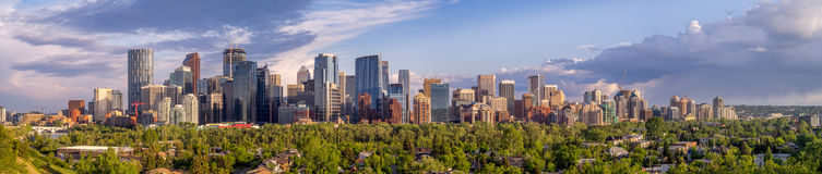 Calgary's skyline Stock Images