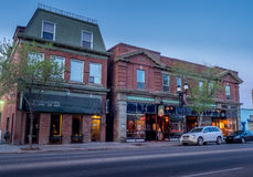 Calgarys Inglewood område Arkivbild