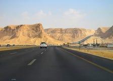 Calha da estrada o deserto imagem de stock