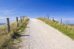 Calha do trajeto as dunas, Zoutelande, os Países Baixos Foto de Stock Royalty Free