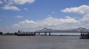 Calha mississippi da ponte Foto de Stock