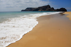 Calheta beach and Ilheu de Baixo Royalty Free Stock Photo