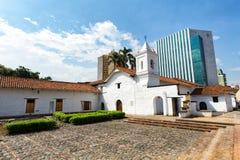 La Merced Church. CALI, COLOMBIA, JUNE 10: View of the La Merced Church in Cali, Colombia on June 10, 2016 stock photo