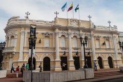 CALI, COLOMBIA - SEPTEMBER 9, 2015: De bouw van het Gemeentelijke Gemeentelijke theater van Teatro in het centrum van Cal royalty-vrije stock fotografie