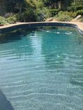Cali pool. A photo of a pool in Cali with a pretty garden Royalty Free Stock Photo