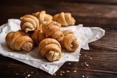 Cali posiłków Croissants faszerujący z Feta serem Obraz Royalty Free