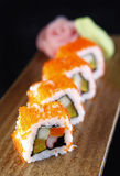 Cali red crab eggs sushi Stock Images