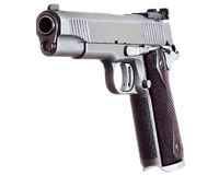 45 Caliber Custom Competition Match Grade Stainless Steel Automa Royalty Free Stock Photography