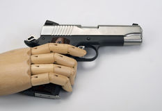 45  caliber handgun. Stock Images