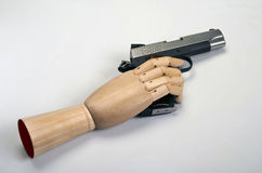 45  caliber handgun. Royalty Free Stock Photography