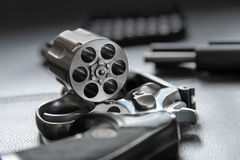 .357 Caliber Revolver Pistol, Revolver open ready to put bullets Royalty Free Stock Images