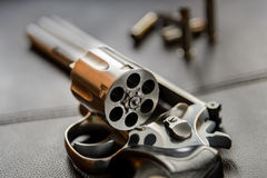 .357 Caliber Revolver Pistol, Revolver open ready to put bullets Stock Photography