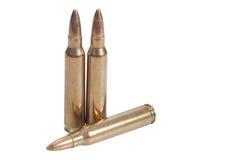 223 caliber. Rifle ammunition isolated Royalty Free Stock Photo