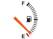 Calibrador de combustible ilustración del vector