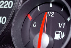 Calibrador de combustible. Foto de archivo libre de regalías