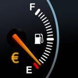 Calibrador de combustible Imágenes de archivo libres de regalías